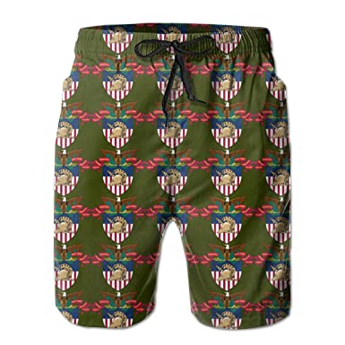 0250be6824 AIYIZHEN West Point Military Academy Men's Beach Shorts Swim Trunks Swimsuit  | Amazon.com