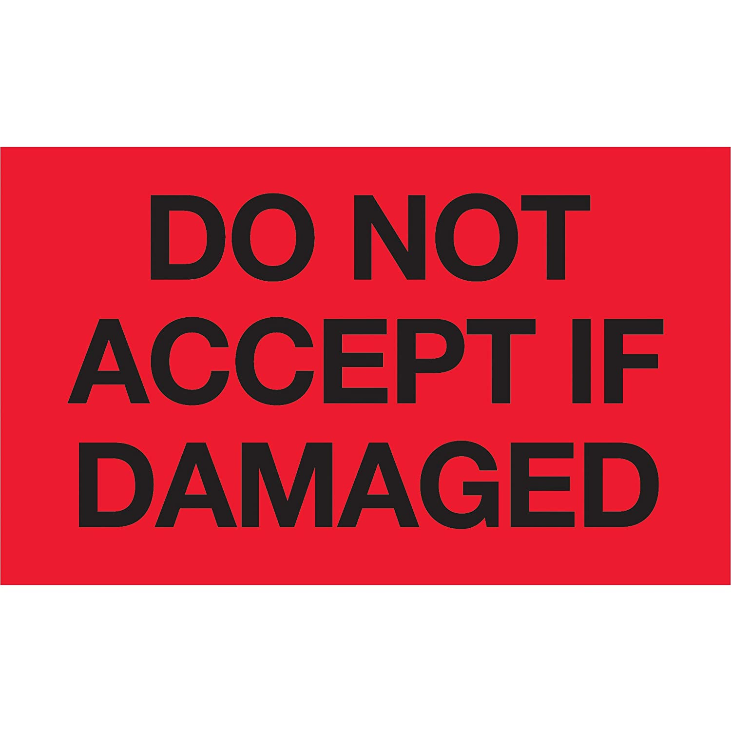 500 3x5 Do Not Accept If Damaged Label//Sticker Jenco-Label DN3504G