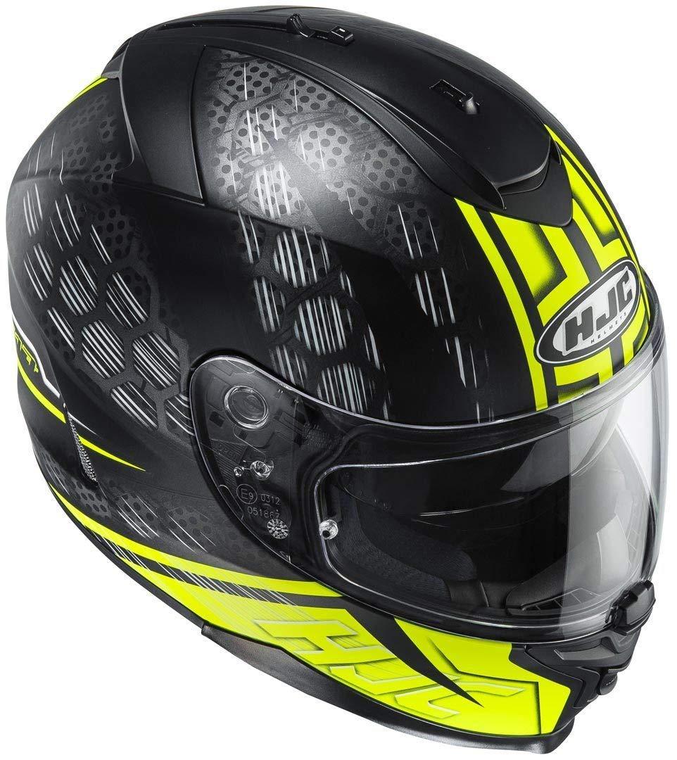 HJC 122674S Casco Moto Nero//Giallo S