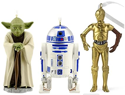 Bundle: Hallmark Star Wars Christmas Ornament Set: R2D2, C3P0, and Yoda - Amazon.com: Bundle: Hallmark Star Wars Christmas Ornament Set: R2D2