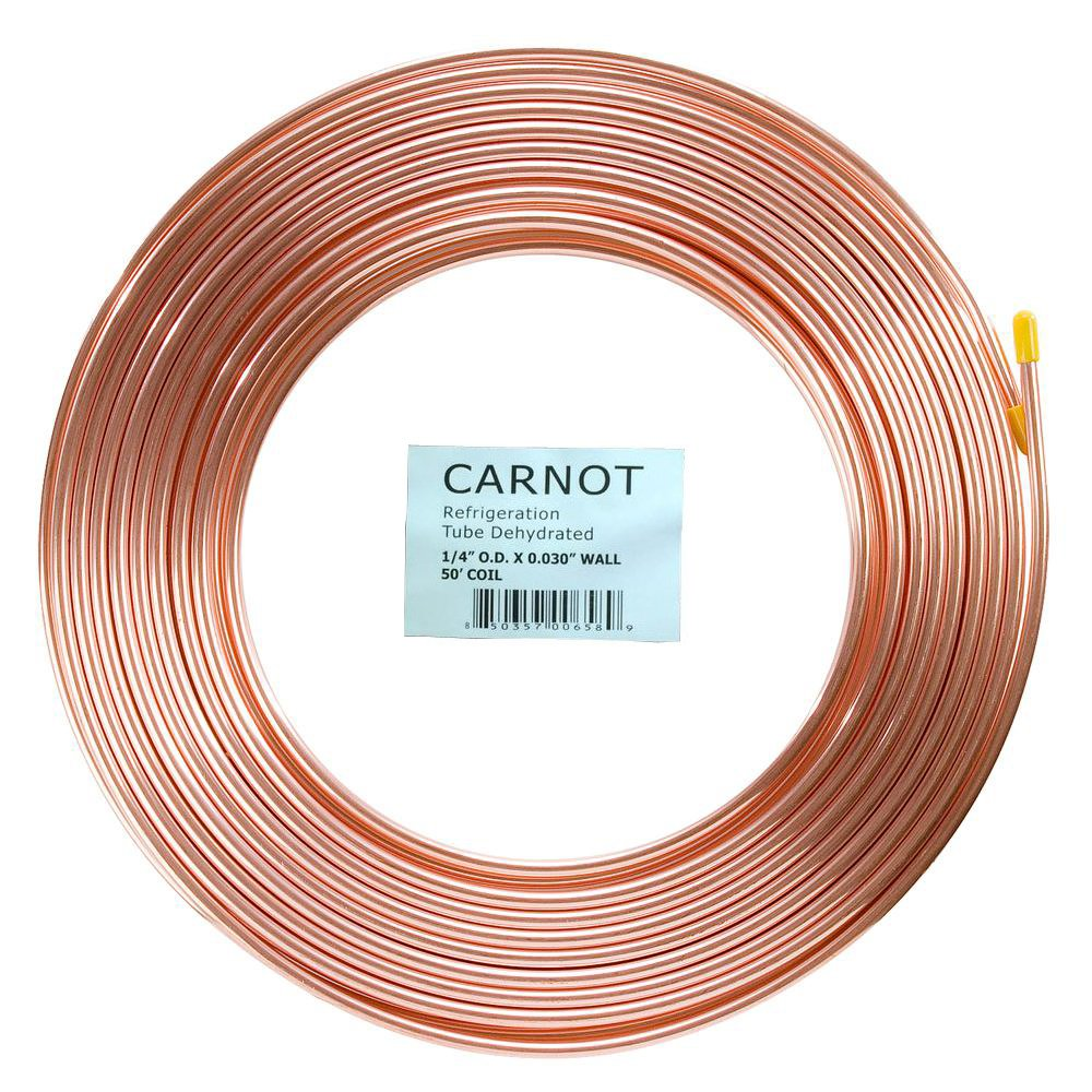 1/4 in ''. x 50 ft. Copper Soft Type Refrigeration Pipe/Tubing