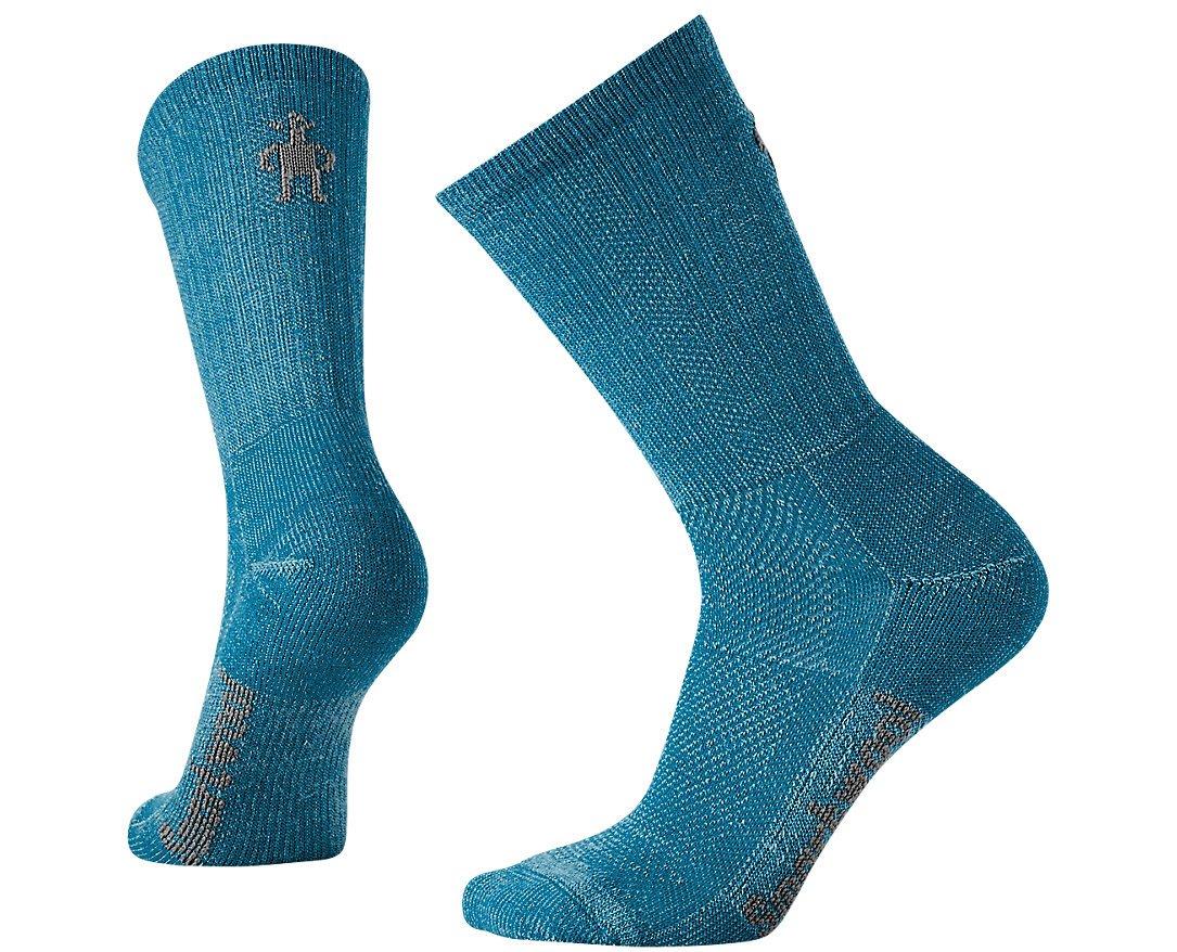 SmartWool Women's Hike Ultra Light Crew Socks (Glacial Blue) Medium