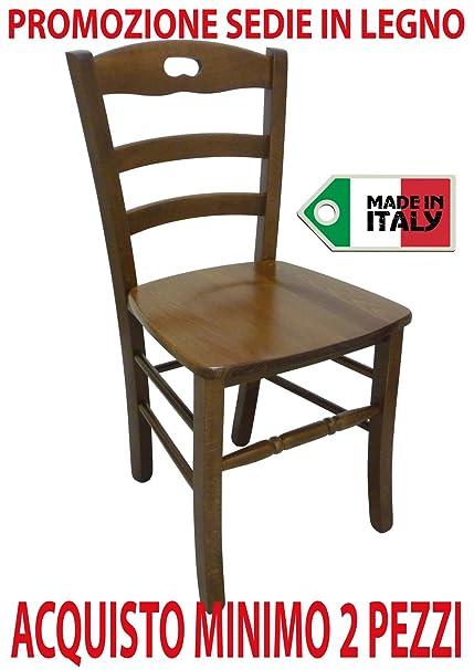 Ordine min. 2 pz sedia poltrona paesana in legno massello noce casa ...