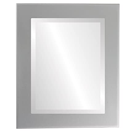 693ecd2038fdc6 Image Unavailable. Image not available for. Color: Rectangle Beveled Wall  Mirror for Home Decor - Cafe Style - Bright Silver ...