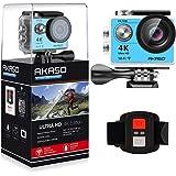 AKASO 4K Wi-Fi sports Action Camera Ultra HD Waterproof DV Camcorder 12MP 170 degree Wide Angle LCD screen/remote, Royal Blue (EK7000BL)