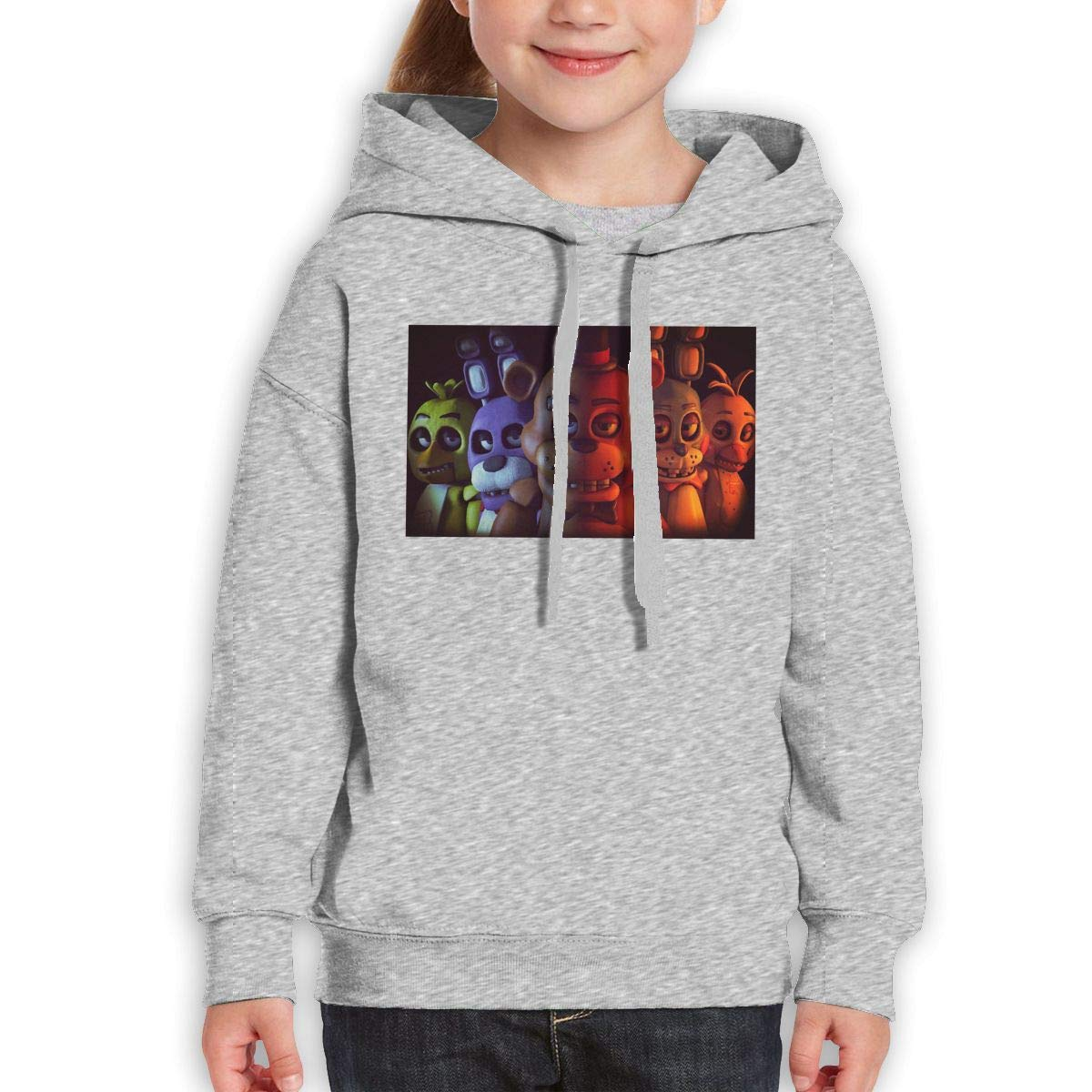 MountGet FNAF FIVE NIGHTS AT FREDDY'S Youth Limited Edition Casual Style Travel Hoodies Black