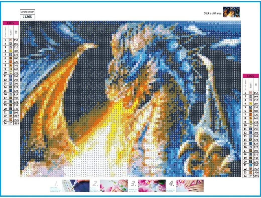 Fashion Dragon 5D Diamond Painting Kits for Adults Full Drill D Home Decor New DIY Embroidery Cross Stitch Kit Crystals Pictures DIY 5D Diamond Painting Kit Canvas Wall Art Decor