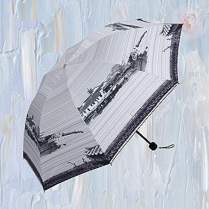 Jasnyfall 2017 Paraguas con Estilo Van Gogh Pintura al óleo Paraguas de Artes Innovador Paraguas para