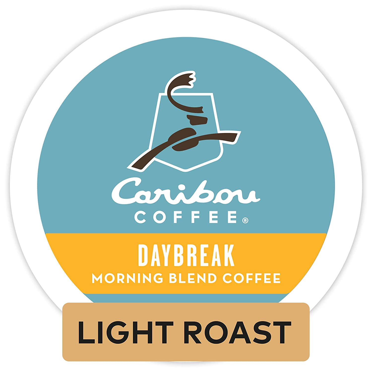 Caribou Coffee Daybreak Morning Blend, Single Serve Coffee K-Cup Pod, Light Roast, 72