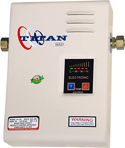 Titan N-100 Electronic Digital Tankless Water Heater By Niagara Industries Inc. 29 Years in Business