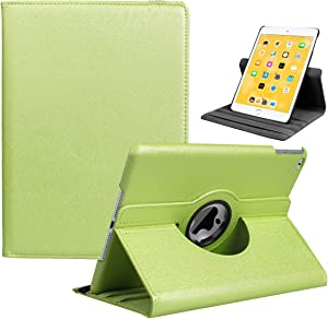 LRCXL iPad 9.7 2018/2017, iPad Air 2, iPad Air Case - Rotating Stand Protective Cover with Auto Sleep Wake for Apple New iPad 9.7 inch (6th Gen, 5th Gen) / iPad Air 2013 Model (Pale Green)