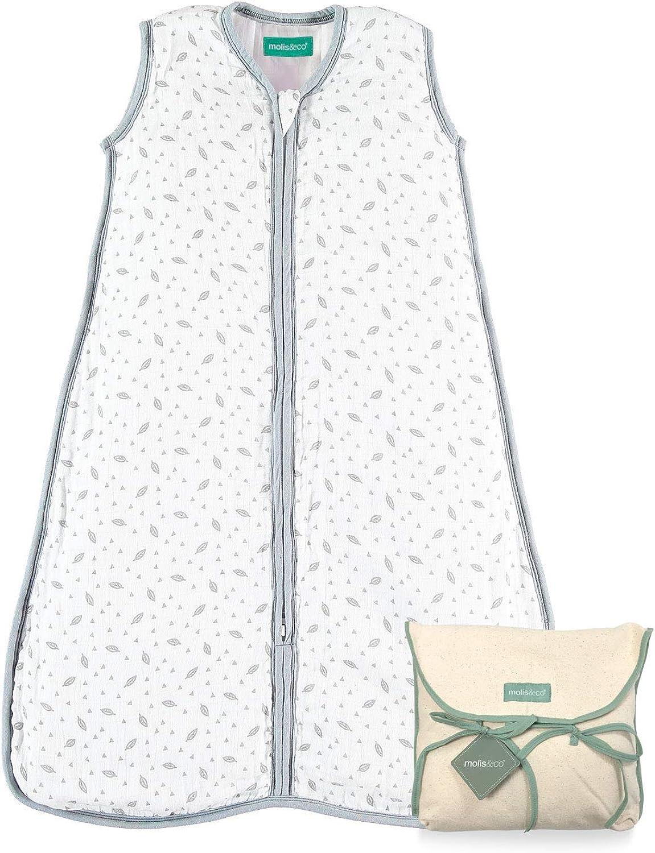 Ideale per l/'Inverno e la Mezza Stagione 2.5 TOG Sacco Nanna Imbottito per Neonati Ultra-Morbido e Caldo Mussola Premium. molis/&co