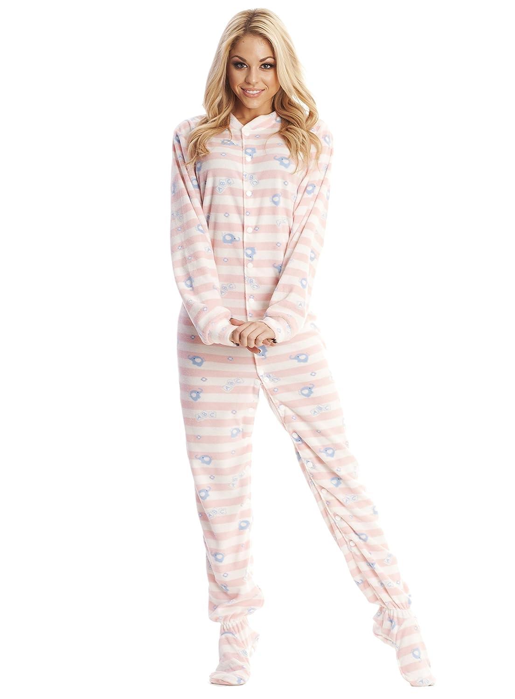 6606cf27b4e7 Amazon.com  ABDL Supply Pink Elephant Adult Footed Pajamas (Small ...