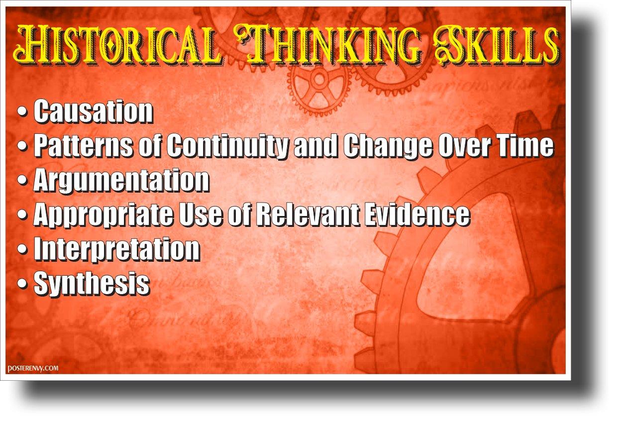 Historical Thinking Skills - NEW Classroom Social Studies POSTER PosterEnvy