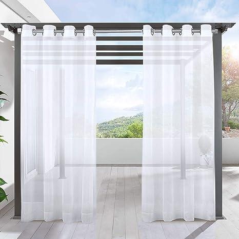 LIFONDER Lifeder Panel de Cortina de Patio - Paneles de Interior y Exterior Impermeables para pergola de Porche, decoración de Cubierta/Cubierta/Cabana/balcón Ojal Superior, 1 Paquete: Amazon.es: Hogar