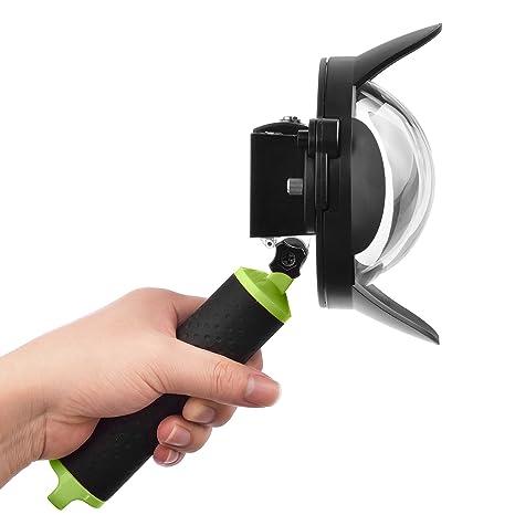 SHOOT 4 Pulgadas Dome Compatible con Xiaomi Yi 2K; Cúpula Sumergible para Fotografía Subacuática con Carcasa y Mango