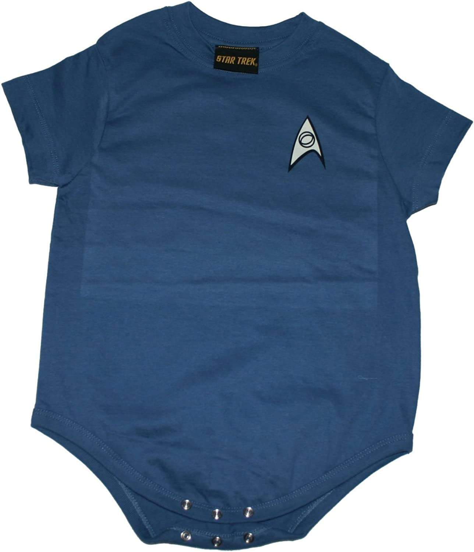 Star Trek Starfleet Science Spock Uniform Creeper Romper Onesie
