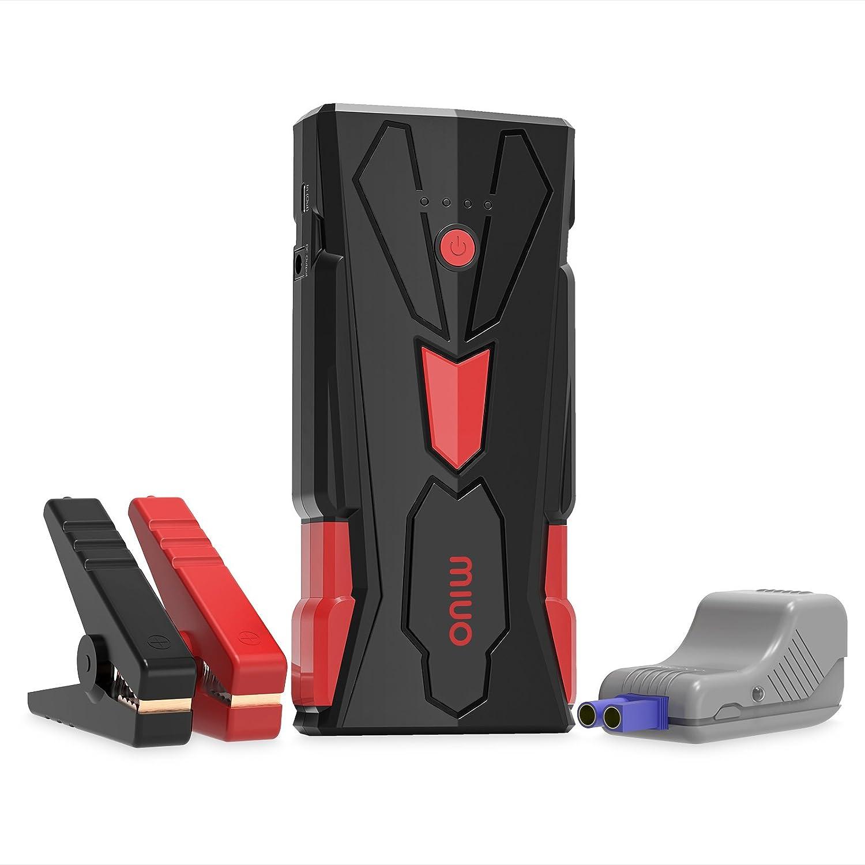 MIUO Jump Starter Dé marreur de Voiture 15600mAh 1500A Peak Portable Booster Batterie Alimentation Electrique d'Urgence Voiture Camion Moto Auto LED Flashlight