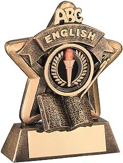 Lapal Dimension Mini étoiles 'English' Trophy–BRZ/Or English (1in Centre) 3,75en