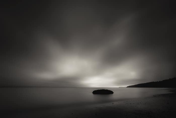 Beach Photography Long Exposure Puget Sound Sunset Minimalist