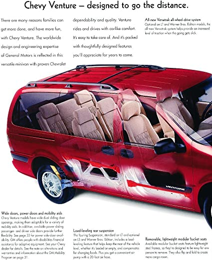 Amazon Com 2002 Chevrolet Venture Van 36 Page Sales Brochure Catalog Chevy Everything Else