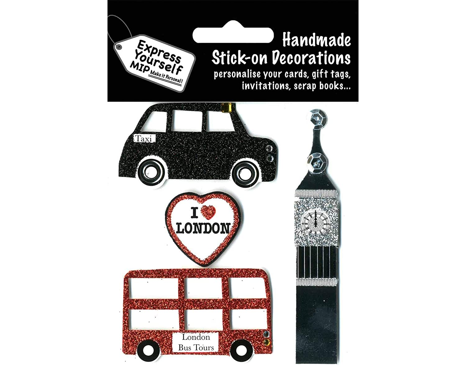 Express Yourself London Theme Stick-On Decorations
