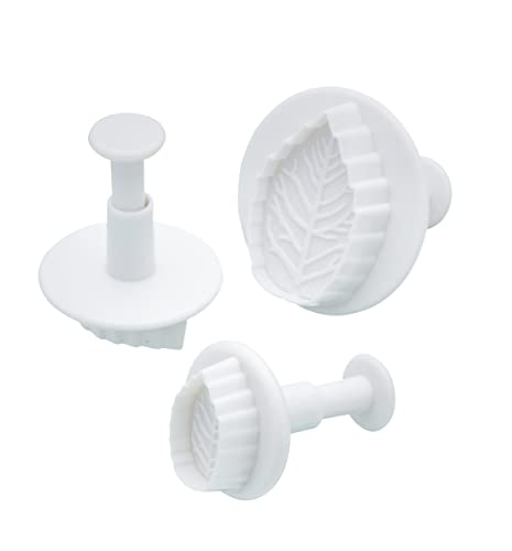 Sweetly Does It Leaf Fondant Plunger Cutters, Set of 3