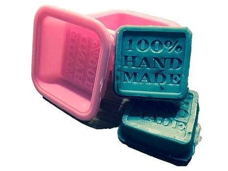 NiceButy - Juego de 10 moldes de jabón (100% silicona cuadrada hecha a mano