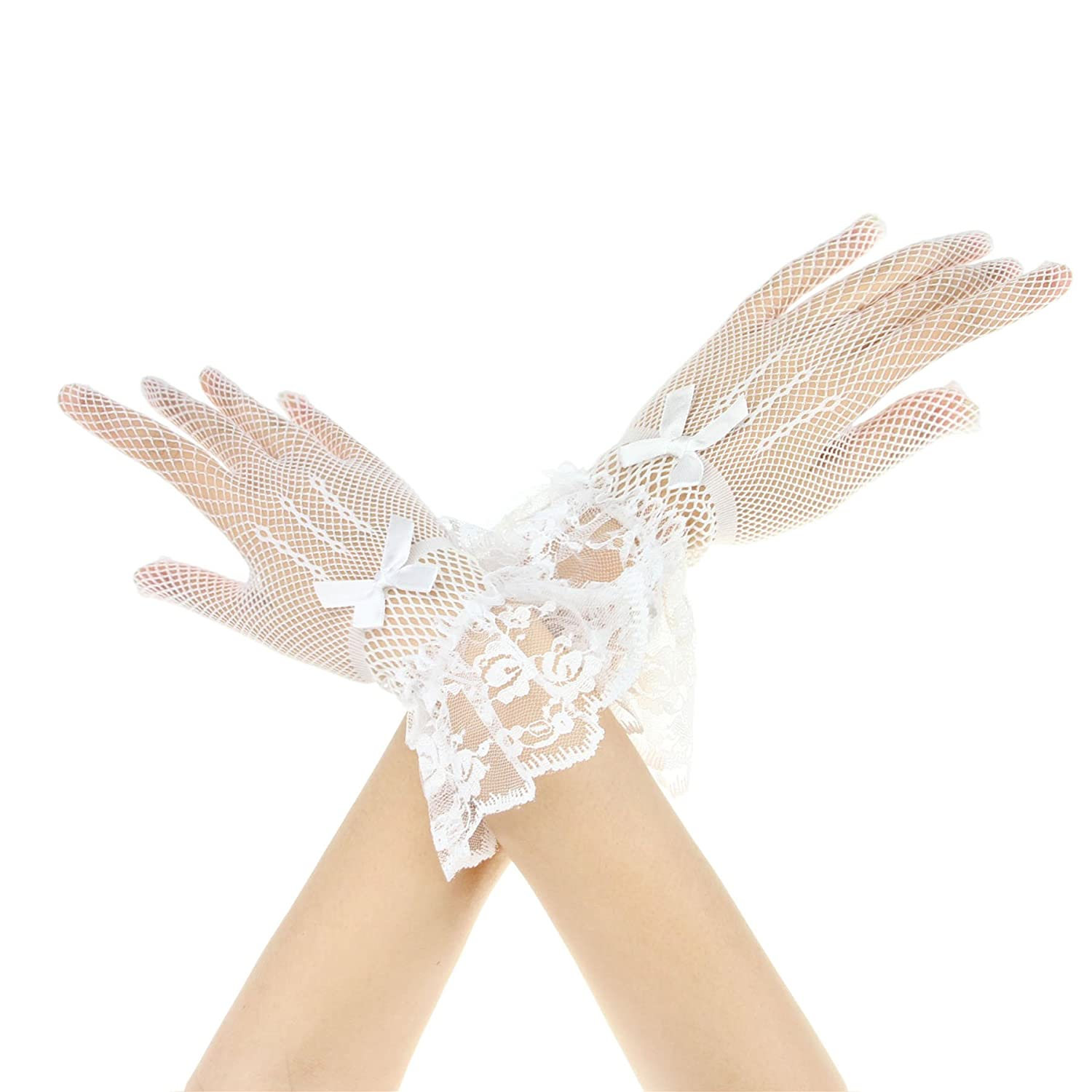 BXT Short Cotton Crochet Dress Gloves Wedding Gloves For Ladies Womens GLO-FHF-000038