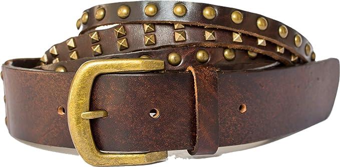 Skinny Belt Tan Leather Belt Vintage Distressed Women/'s size Large