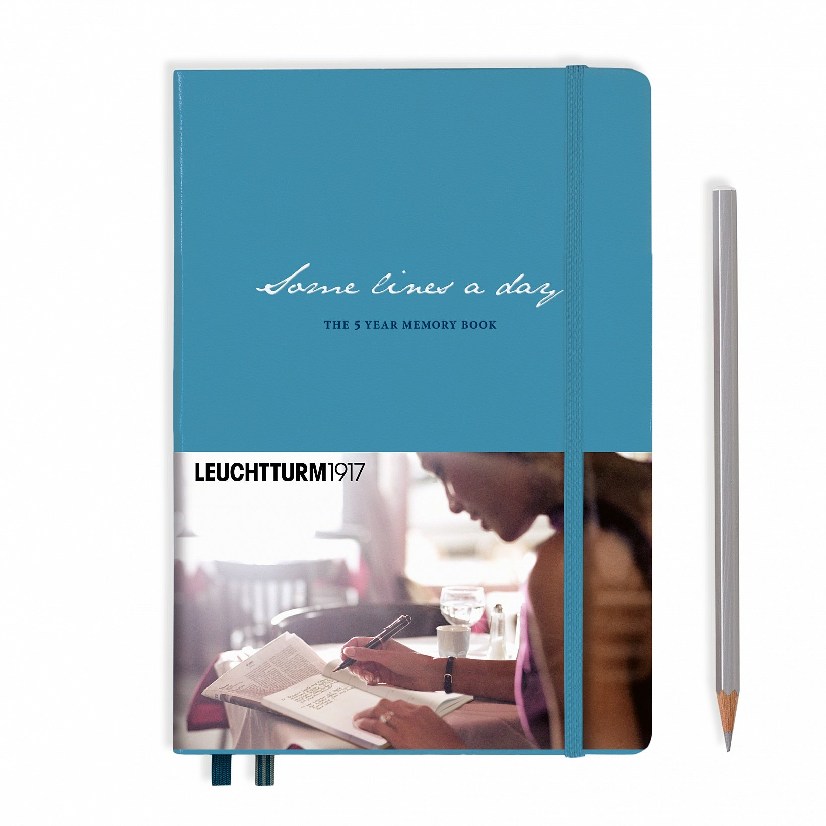 Leuchtturm1917 Some Lines A Day 5 Year Memory Book Journal - Medium (A5) 5.71'' x 8.27'' - Nordic Blue