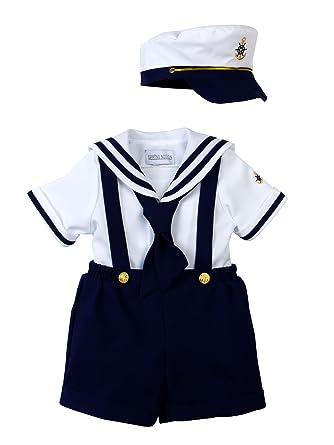 a07ecc357872 Amazon.com  Spring Notion Baby Toddler Boys Nautical Sailor Short ...