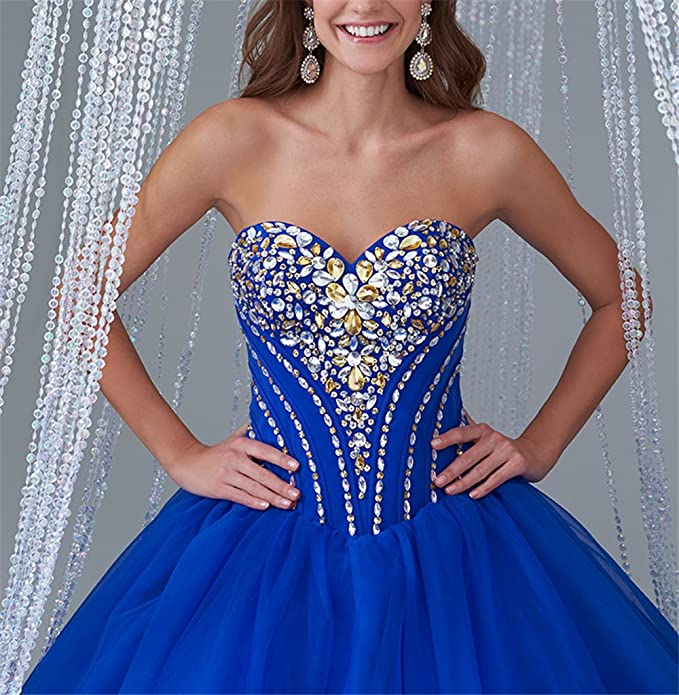 GreenBloom Womens Vestidos DE 15 Anos Elegant Quinceanera Dresses With Crystal at Amazon Womens Clothing store: