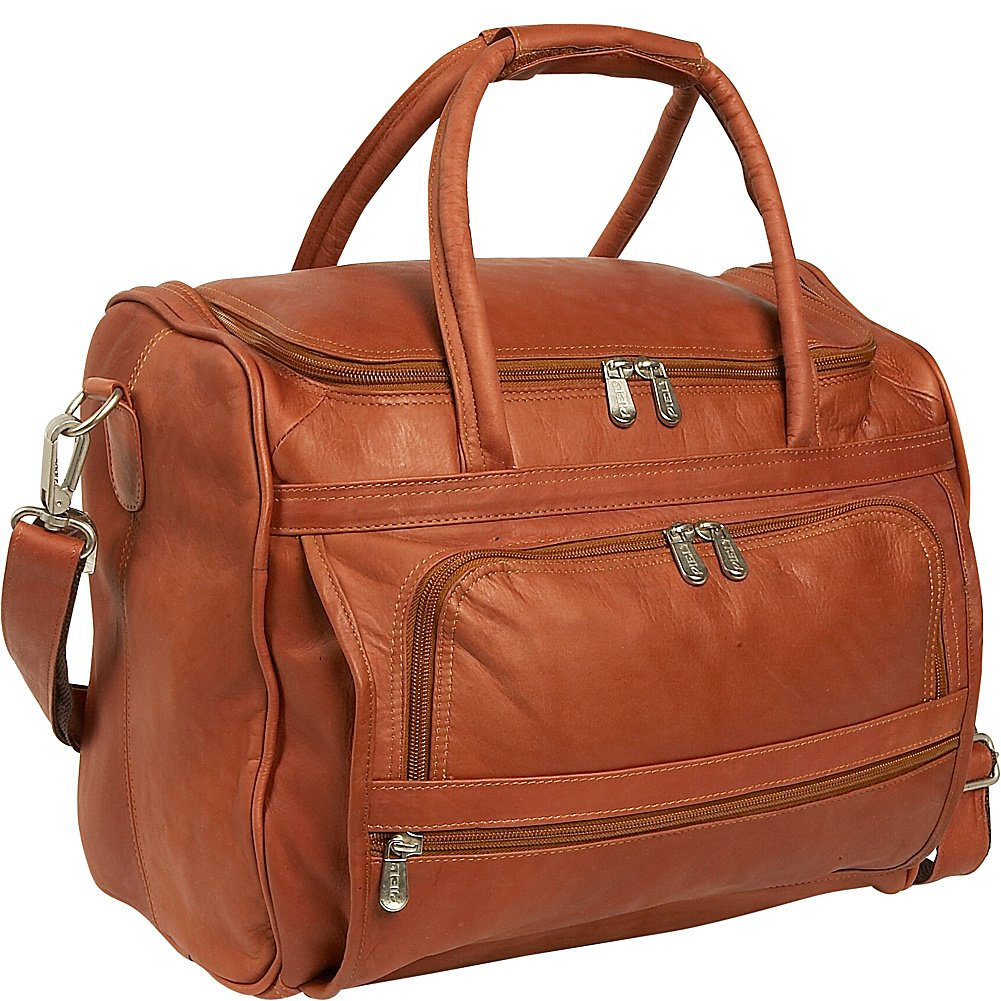 Piel Leather Small Computer Carry-All Bag, Saddle, One Size