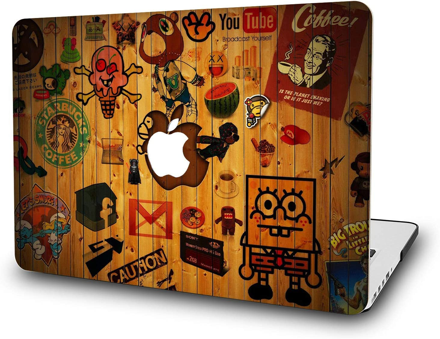 MacBook Pro 13 Inch Case 2018 - L2W Hard Plastic Cover for Mac Pro 13 Model: A1989/A1706/A1708/A2251/A2289/A2338 M1 Release 2016-2020,Protection Shell of Design Logo