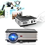 Video Projector 3500 Lumens, Home Theater Projector for Indoor Outdoor Video Games Movie, LCD LED Multimedia Projector Support 1080p HD USB VGA for PC Laptop Smartphone iPhone TV BOX With HDMI Cable