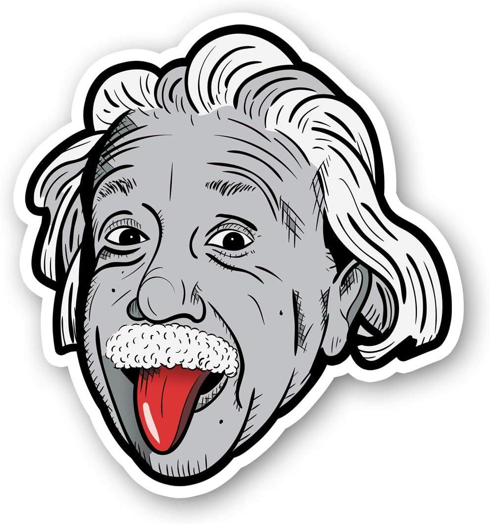 Einstein Sticker Albert Einstein Stickers - Laptop Stickers - 2.5 Inches Vinyl Decal - Laptop, Phone, Tablet Vinyl Decal Sticker S214426