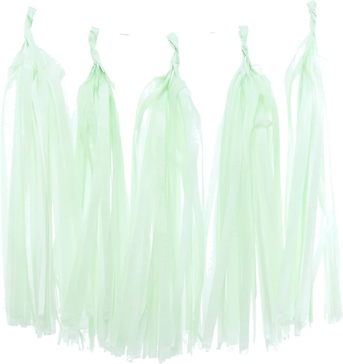 Plain and Simple Natural Tassel Garland Tissue Paper Tassels Garland Kit Set of 6 to 50 Choose your quantity
