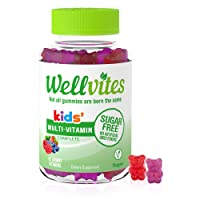 Wellvites Kids Multivitamin Sugar Free, Vegan Gummy Vitamins: Sweetener Free, Gelatin...