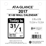 """AT-A-GLANCE Wall Calendar Refill 2017, Today Is, Daily, 6 x 6"""", Refill for K1 (K1-50)"""