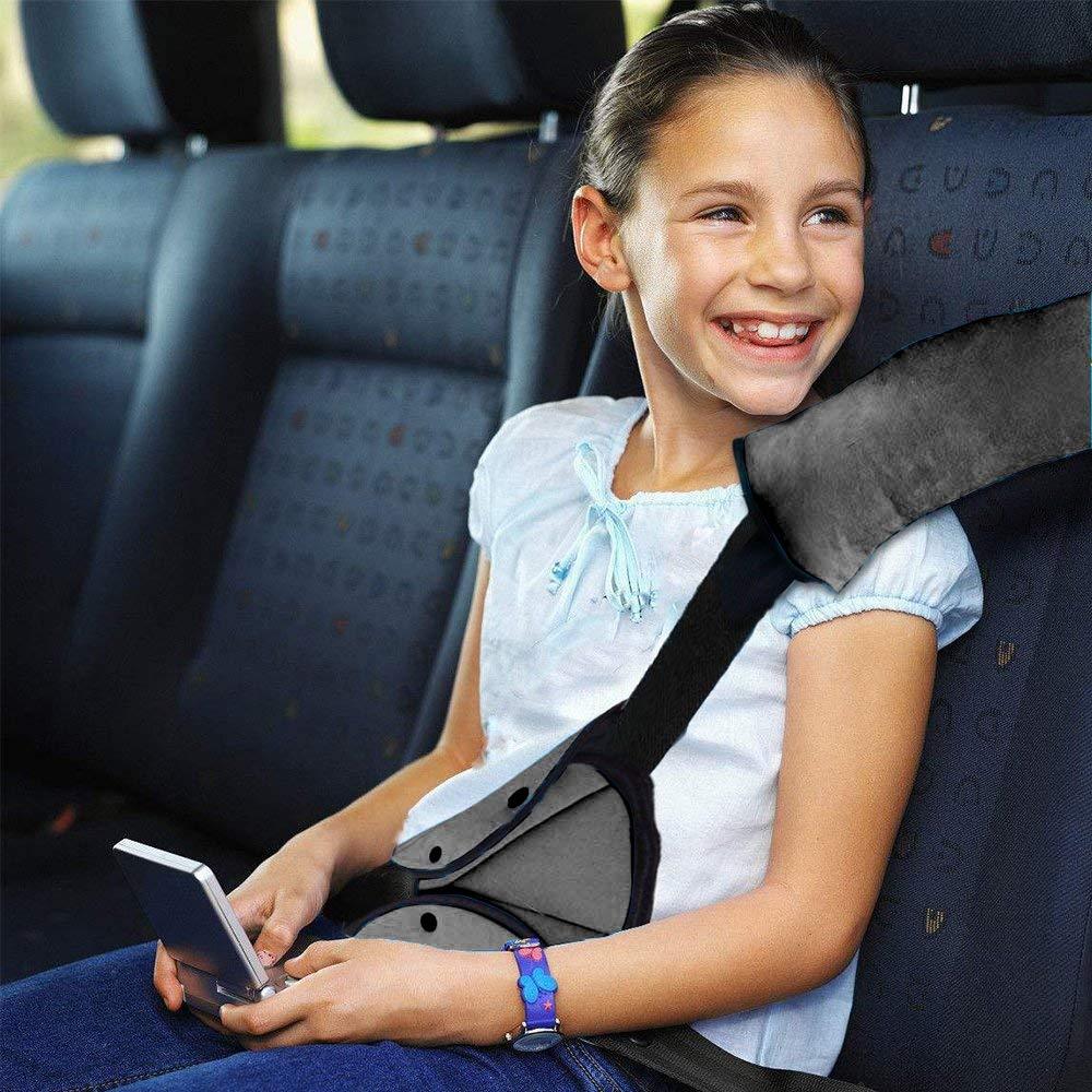 Gurtpolster Auto Kinder Auto Sicherheitsgurt Schulterpolster G/ürtelkissen Schutzkissen Abnehmbar waschbar Reisekissen Schlafkissen f/ür das Auto mehr Komfort auf der Reise