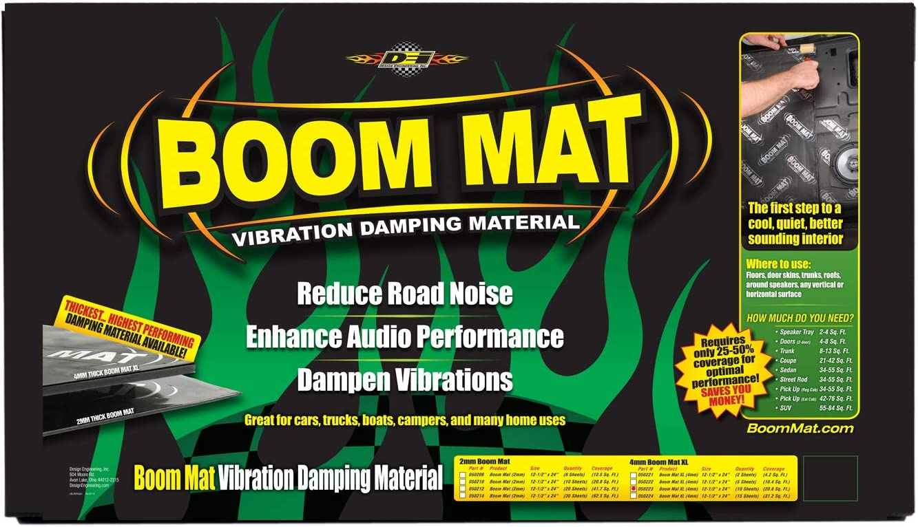 "Boom Mat 050210 20.8 sq.ft Damping Material 10 12.5/"" x 24/"" x 2mm Sheets"