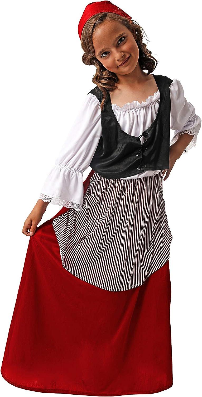 Costumizate! Disfraz de Campesina para niña Talla 7-9 Especial de ...