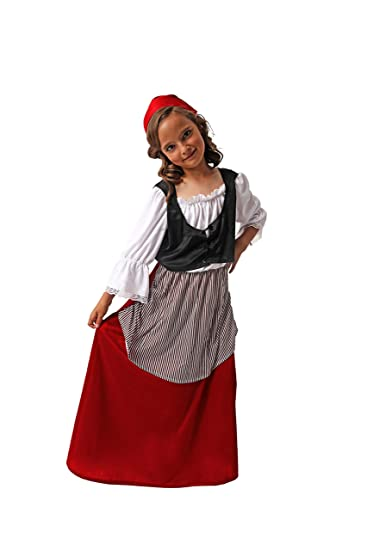 disponibile comprare a buon mercato Acquista Costumizate!. Costume di contadina per Bambina Taglie A Scelta ...