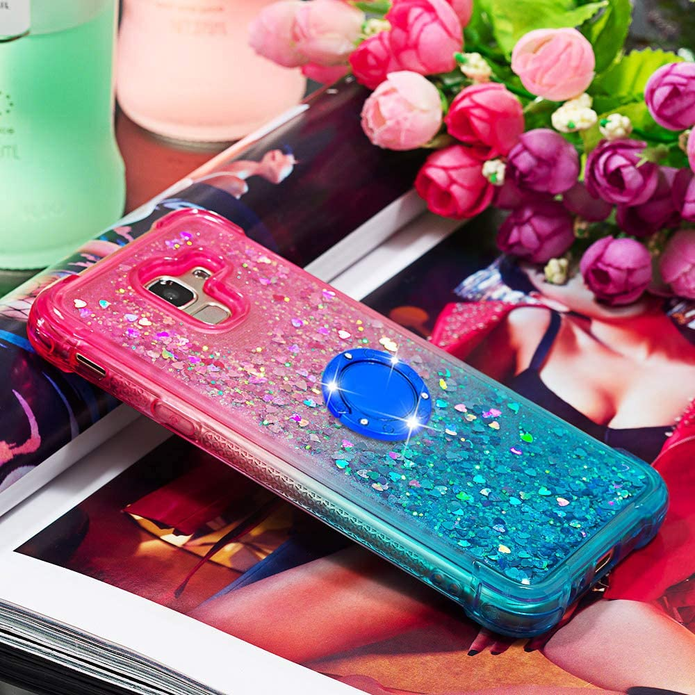 Lomogo Case for Galaxy J6 On 6 2018 On6 Glitter Silicone Shockproof Soft Rubber Bumper Case Non-Slip Back Cover Thin Fit for Samsung Galaxy J6 LOYBO480149#4