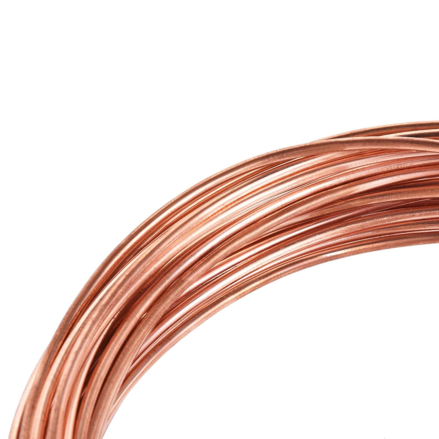 uxcell Refrigeration Tubing 1.8mm OD x 0.8mm ID x 24.5Ft Length Copper Tubing Coil