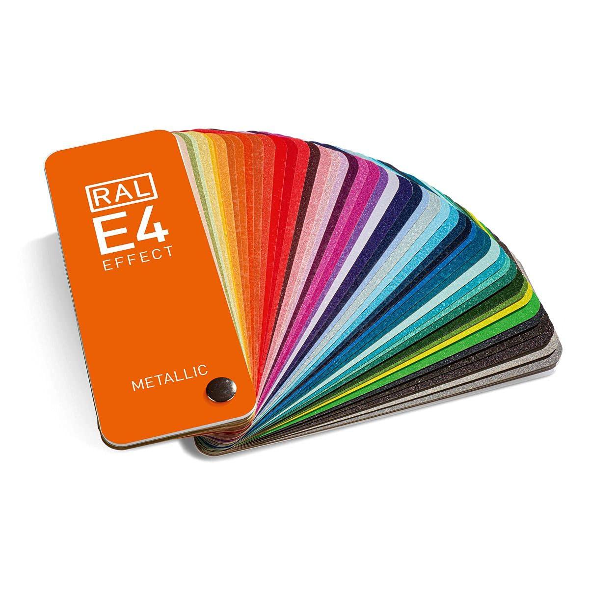 RAL E4 EFFECT colour fan glossy metallic