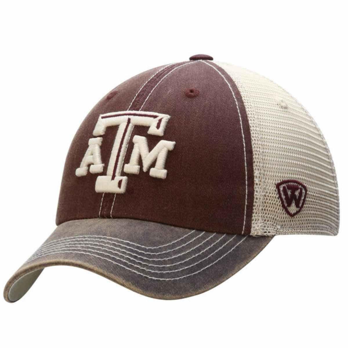 Texas A & M Aggies Top of the World MaroonグレーオフロードAdjスナップバック帽子キャップ B012EHGE6A