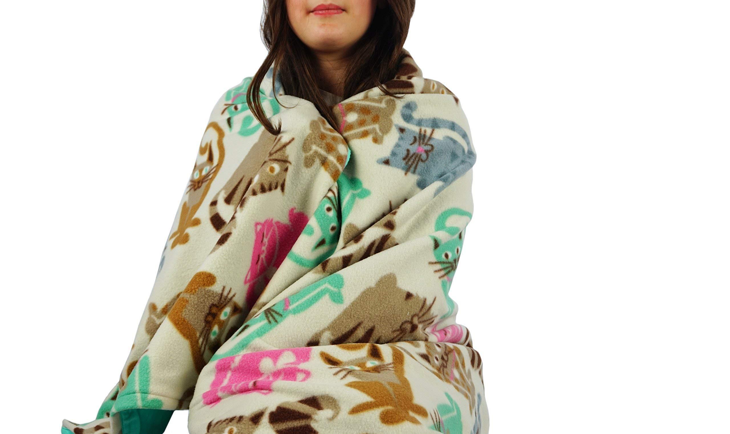 Fleece throw blanket- Cat breeds