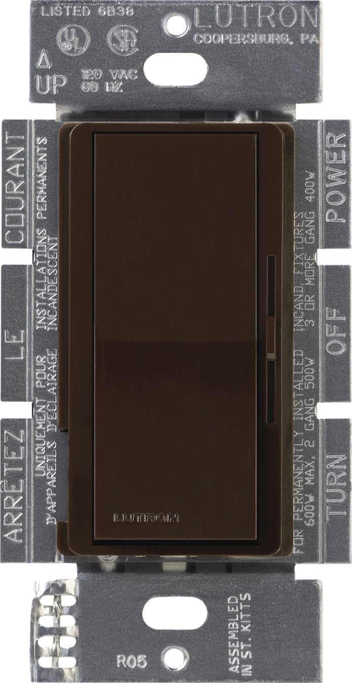 Lutron DVELV-303P-BR Diva 300-Watt 3-Way Electronic Low-Voltage Dimmer, Brown by Lutron